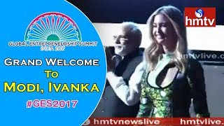 Grand Welcome To Modi & Ivanka Trump | GES 2017 | HICC | Hyderabad | hmtv News