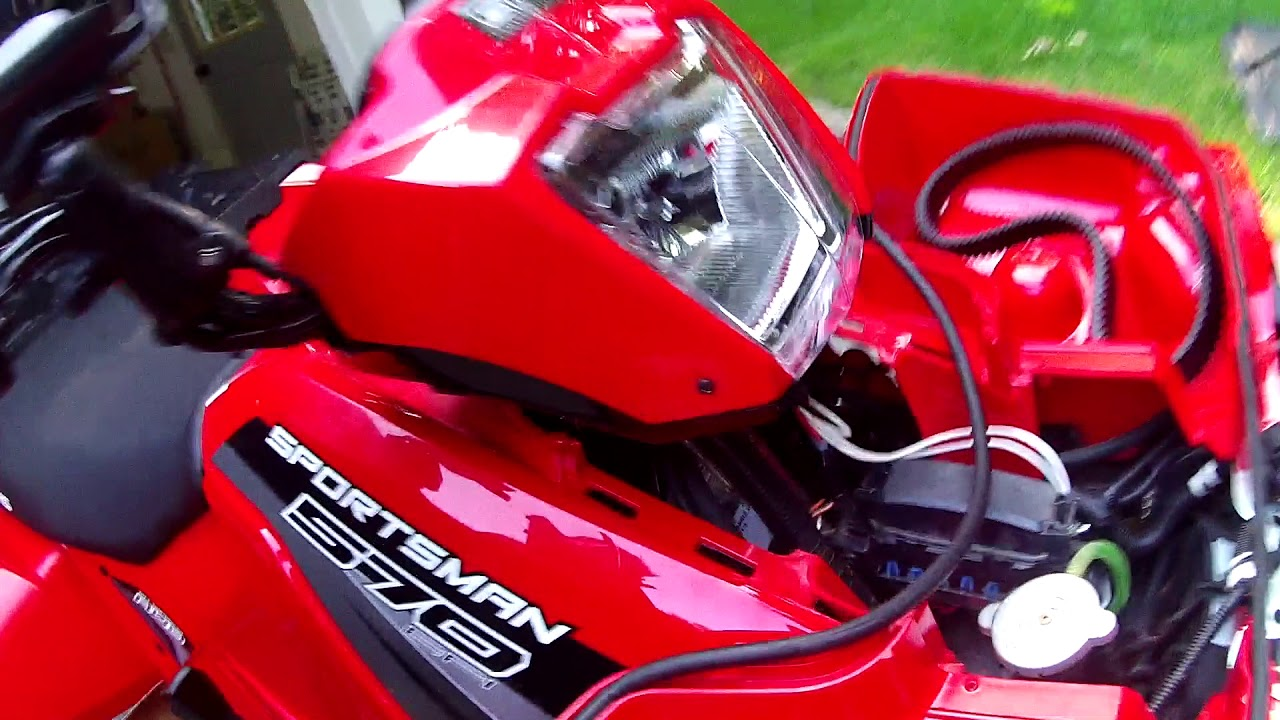 installing 3500lb winch on polaris sportsman 570 [ 1280 x 720 Pixel ]