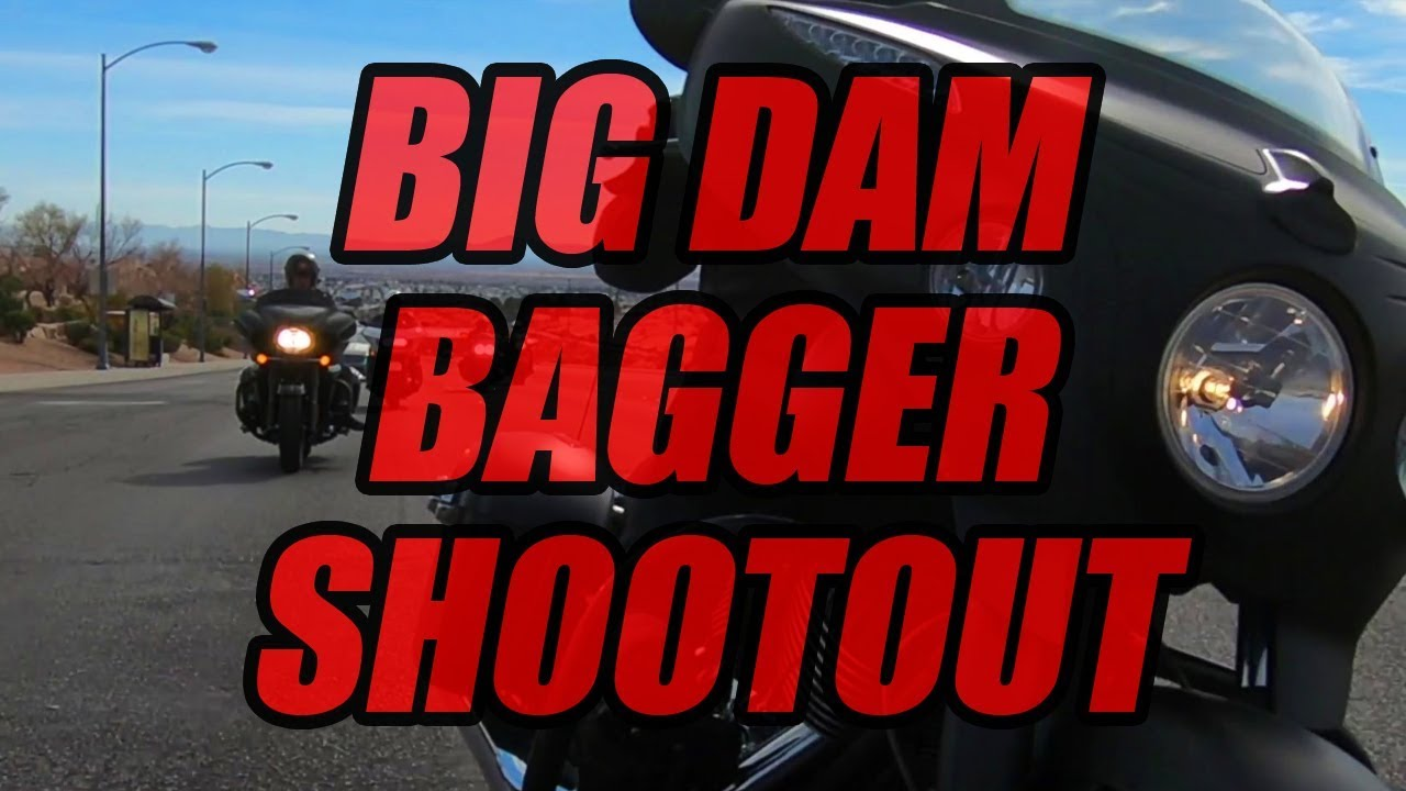 2018 Big Dam Bagger Shootout: Indian Chieftain Dark Horse vs. Harley-Davidson Road Glide vs - Dauer: 16 Minuten