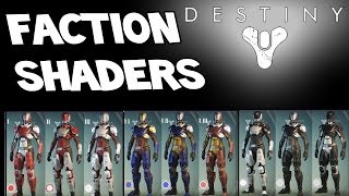 Destiny - HOW TO GET SECRET HIDDEN FACTION SHADERS ! - Dead Orbit / New Monarchy / Future War Cult