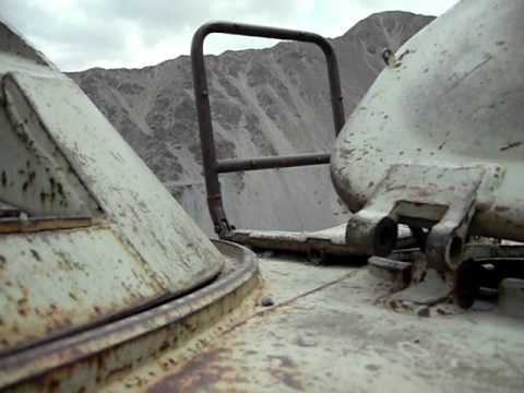 Destroyed BTR-80 inside. Afghanistan