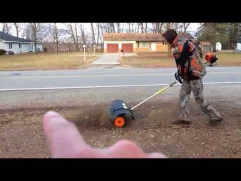 Stihl km110r Kombi power broom action (March 2018)