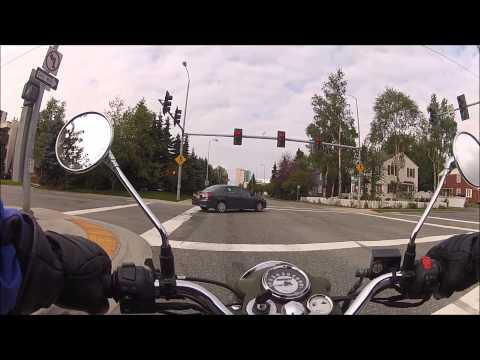 Royal Enfield Bullet Ride - Anchorage Alaska - Kincaid Park/Spenard Road/Downtown/Minnesota Drive