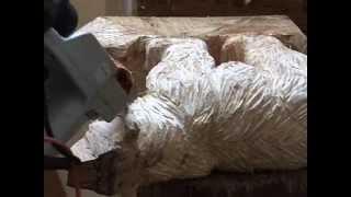 Willy Niodo, sculpteur à la tronçonneuse