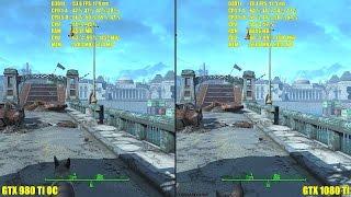 Fallout 4 GTX 1080 TI Stock Vs GTX 980 TI OC 4K Frame Rate Comparison