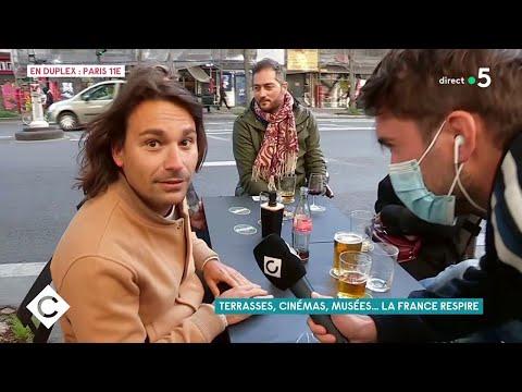 Terrasses, cinémas, musées... La France respire ! - C à Vous - 19/05/2021