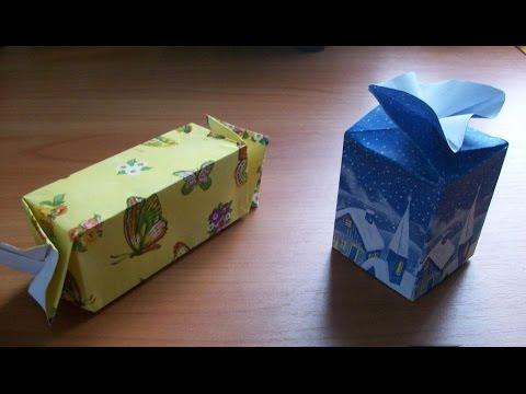 Новогодняя Подарочная Упаковка Своими Руками. Оригинальные Коробочки Конфеты Для Подарков. Gift Box