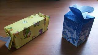 Новогодняя Подарочная Упаковка Своими Руками. Оригинальные Коробочки Конфеты Для Подарков. Gift Box(Упаковку для подарка любого размера можно легко сделать дома своими руками из бумаги или даже обоев и не..., 2015-10-16T13:19:43.000Z)