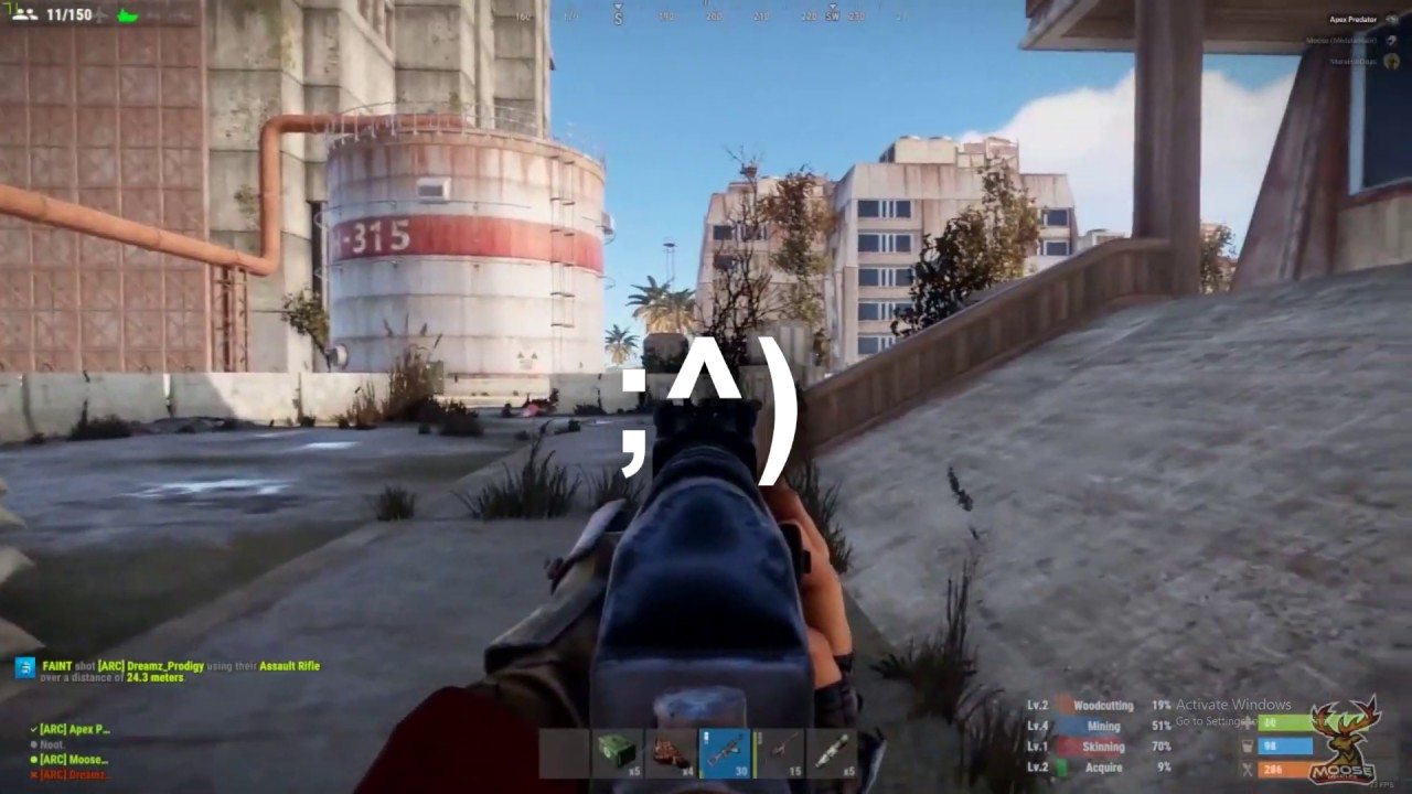 RUST Beaming kids in Launch Site