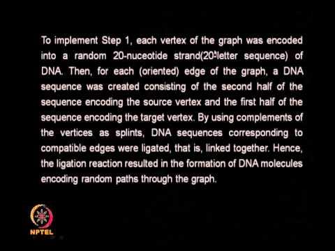 Mod-09 Lec-41 DNA COMPUTING