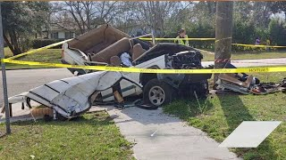 Witnesses: Jeep flies into air, slams into power pole 8 feet off ground