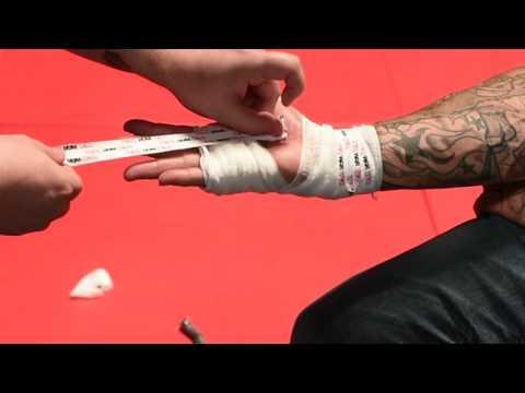 Matt Marsden Bellator Cutman s how to professionally wrap your hands.