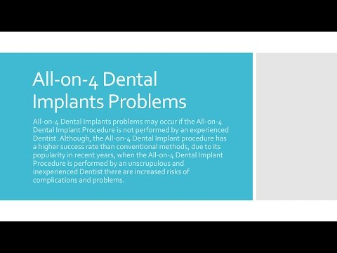 All on 4 Dental Implant Problems