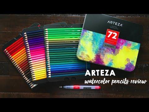 Arteza Watercolor Pencils Review - YouTube