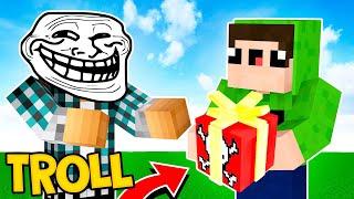 TROLLEI MEU AMIGO COM UM PRESENTE !! - Minecraft Survival #44