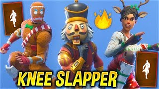 "Fortnite ""Knee Slapper"" Emote Showcase With All Popular Skins..!"
