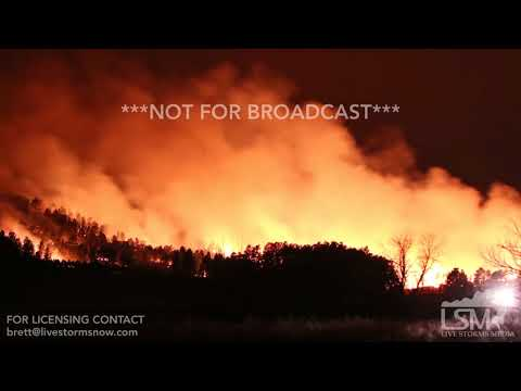 12-13-2017 Fairburn, South Dakota - Massive Wildfire