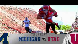 FOX Sports 1 College Football: Michigan vs  Utah Promo 9/3/15