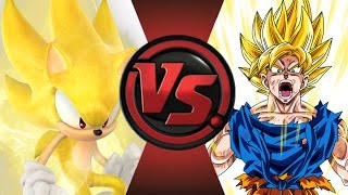 SONIC vs GOKU! Cartoon Fight Club Episode 27