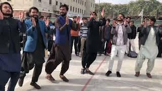 Saraiki jhumar in Arid University by Saraiki Students