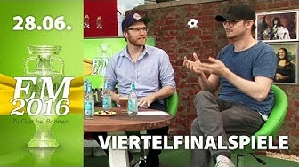 [1/3] Achtelfinalspiele - Analyse | Rocket Beans TV EM-Studio | 28.06.2016