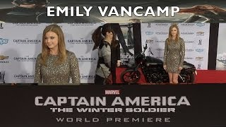"Emily VanCamp AGENT 13 ""Captain America: The Winter Soldier"" World Premiere"