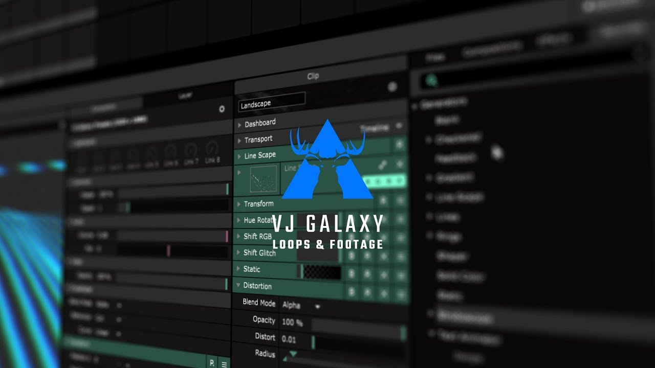 Create Reactive VJ Loops with Generators in Resolume 6