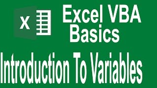 Excel VBA Programming Basics Tutorial # 4 | Introduction to Variables