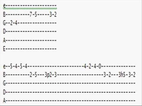 Zelda Guitar Tabs: Gerudo Valley