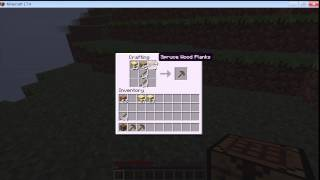 How to make Wooden Pickaxe in Minecraft
