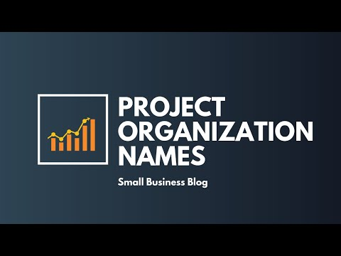 Catchy Project Organization Names
