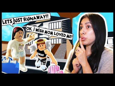 MY LITTLE SISTER AND I RAN AWAY FROM HOME! MOM HATES US!  - Roblox Roleplay - Robloxian Life