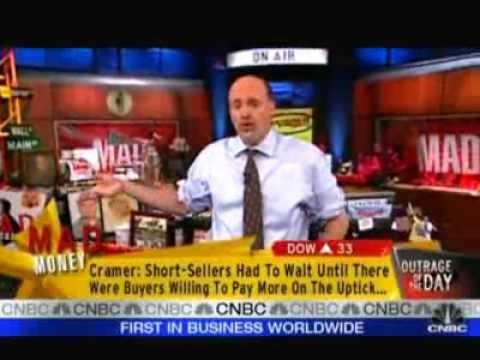 """Cramer: """"The ETF Of Mass Banking Destruction"""" UltraShort Financials (SKF) & Reinstate Uptick Rule"""