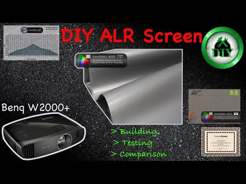 DIY ALR Projector Screen From Cinegrey 5D Material. Building, Testing And Comparing On BenQ W2000+