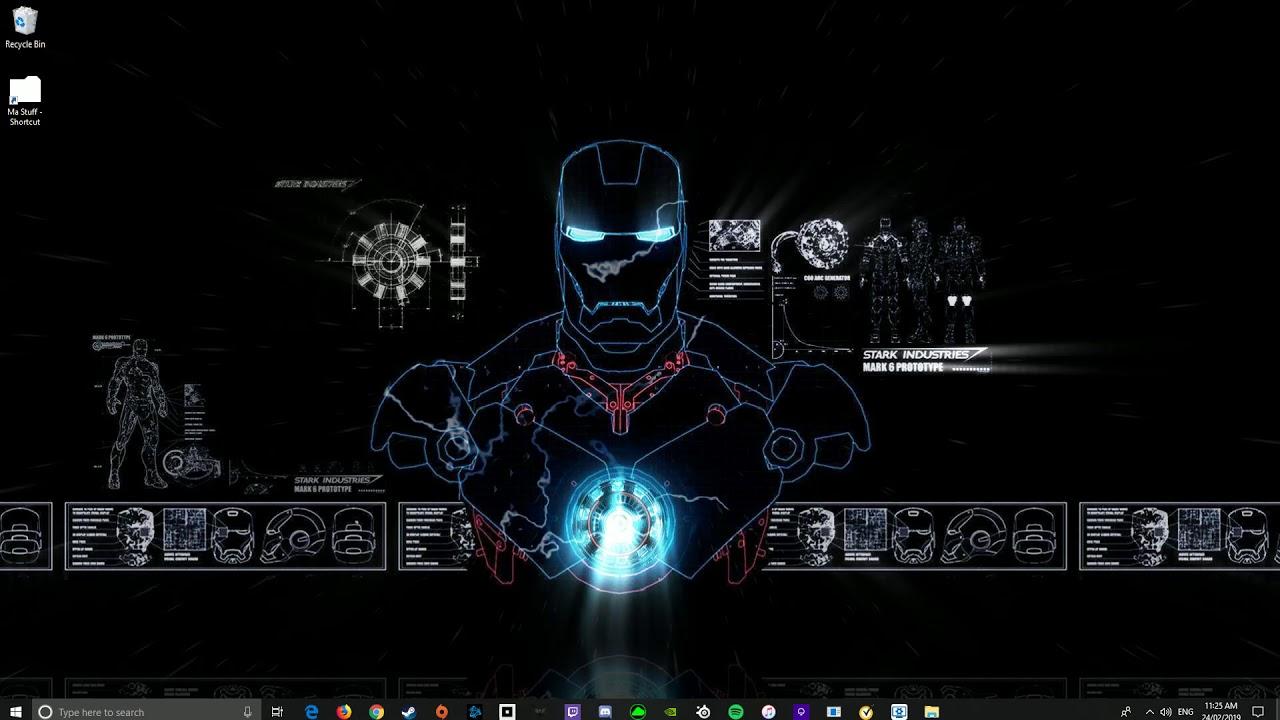 Iron Man Blueprints Wallpaper Engine Youtube
