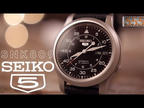 Review: Seiko 5 SNK809 Military Watch - Best First Automatic Sports Watch Around $50?