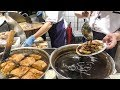 Hong Kong Food. Cooking in a Chi Chow Restaurant. Roasted Birds, Squids, Fish and More