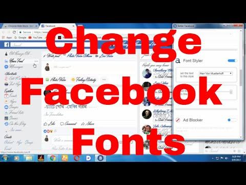 Facebook | How To Change Fonts On Facebook 2019 | Change Facebook Font Size