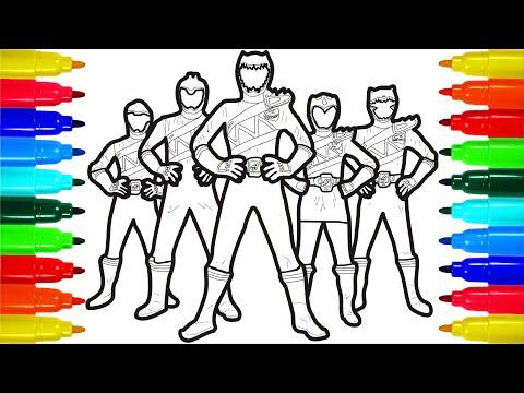 - Power Rangers Samurai Retaliatory Strike Coloring Pages - YouTube