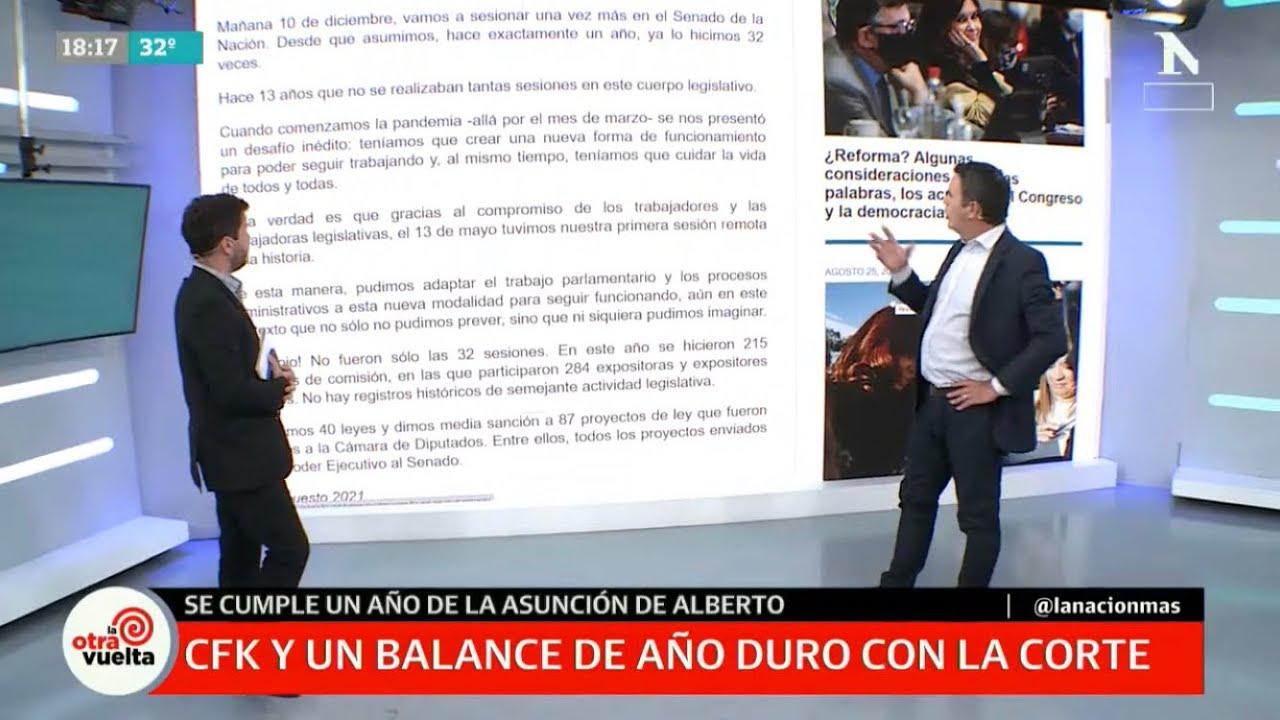 "Download Dura carta de Cristina Kirchner contra la Corte: la vicepresidenta publicó un ""balance"" de 2020"