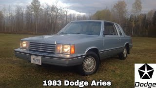 1983 Dodge Aries: Start Up, Exterior, Interior, Test Drive & Full Review