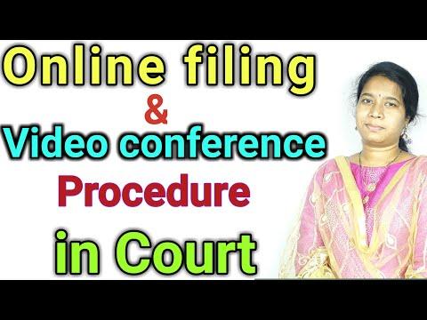 court-online-filing-&-video-conference-procedure|advocate-sowjanya