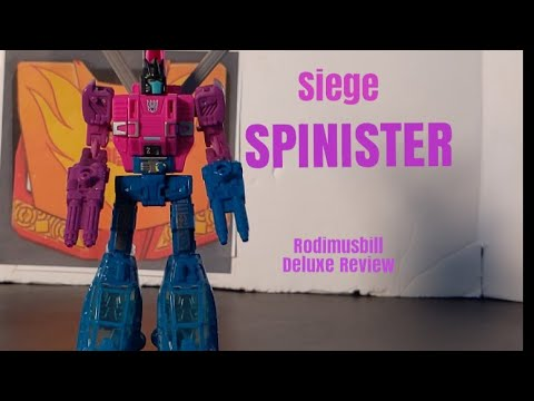 Transformers Siege SPINISTER Deluxe WFC Review By Rodimusbill