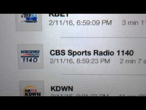 "KXST: ""CBS Sports Radio 1140"" North Las Vegas, NV 9pm TOTH ID--02/11/16"