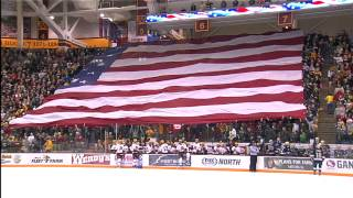 Giant American Flag Unfurled at Gopher Men