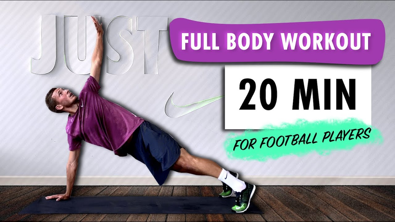 FULL BODY WORKOUT For Football Players | BODYWEIGHT |  Improve Your Strength & Get Fit | Advance