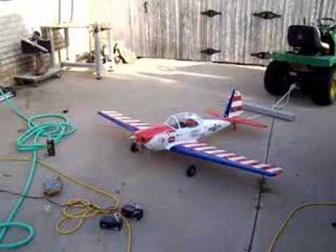 Super Chipmunk RC with Zenoah G26 and Coleman fuel