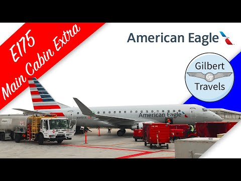 American Airlines Eagle E175 Economy Main Cabin Extra Flight Review (Republic Airways)