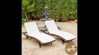 Christopher Knight Home Outdoor Brown Wicker Adjustable Chaise Lounge With Cushions
