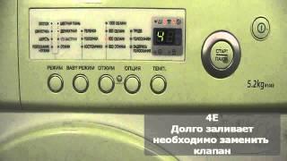 видео Узнать что означает код ошибки, неисправности стиральной машины samsung